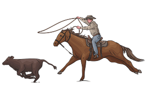 Calf Roping Rodeo clipart