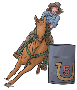 Horse Barrel Racing clipart