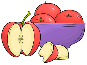 A plate of apples clipart