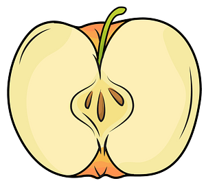 Half Apple clipart