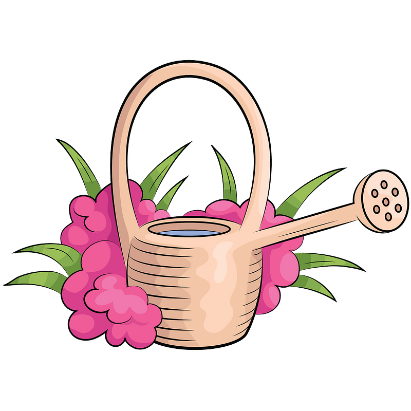 boy watering the plants clipart - Clip Art Library