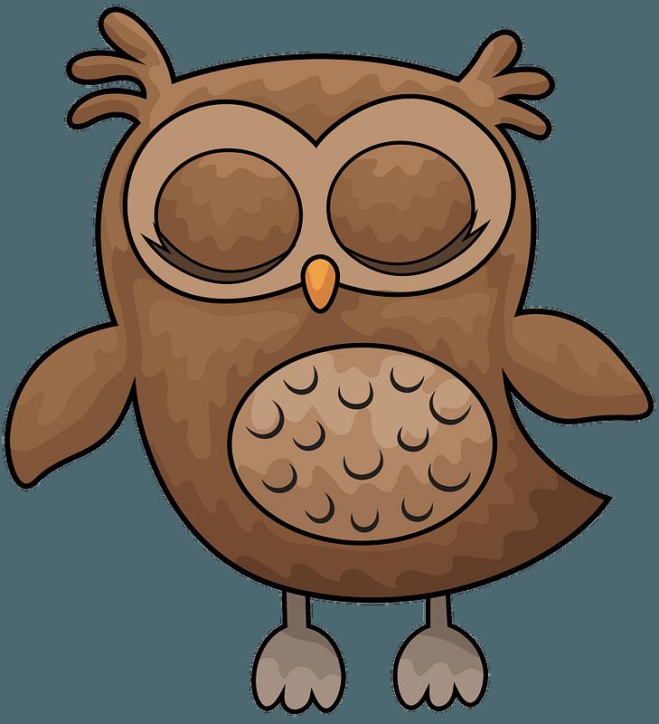 спящая сова картинки мультяшные есть, хорошо видны