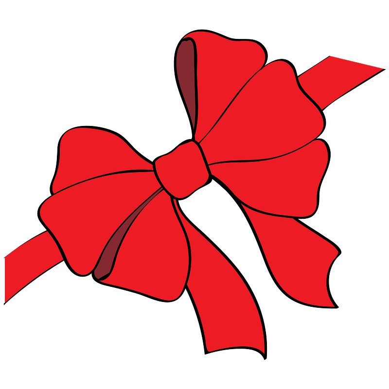 Red Christmas Bow clipart. Free