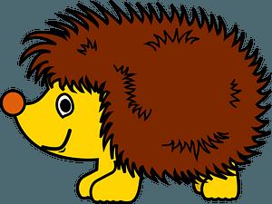 Cartoon hedgehog clipart
