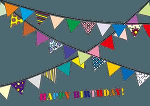 Happy Birthday party garland clipart