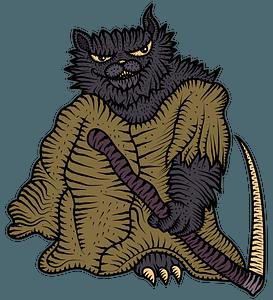 Grim Reaper Cat clipart