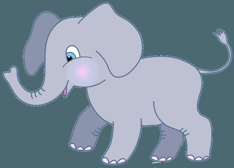 Cute elephant clipart. Free download transparent .PNG | Creazilla