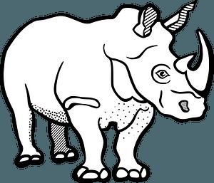 African rhino clipart