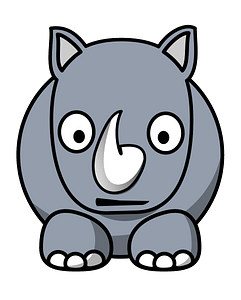 Cartoon rhino clipart