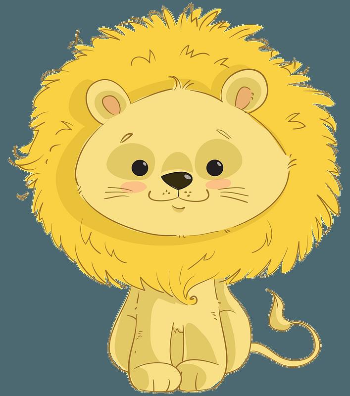 Cartoon Cute Lion clipart