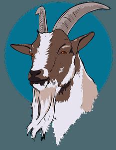 Goat head clipart