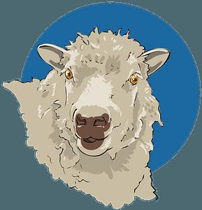 Sheep head clipart