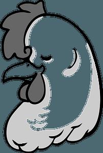 Cartoon hen head clipart