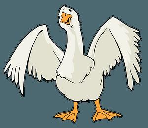 Cartoon Goose clipart
