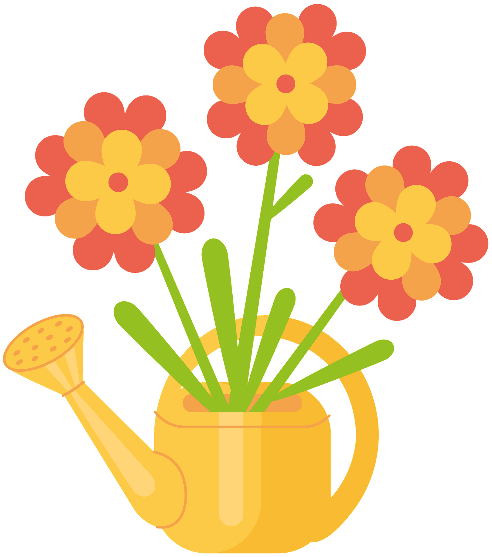 Clip Art Yellow and Purple Pas Que Flowers