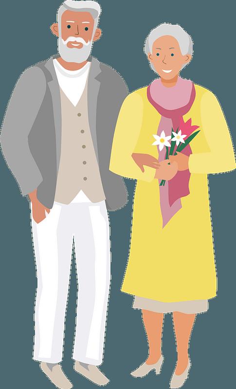 Senior citizens clipart