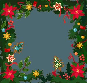Christmas frame immagine clipart