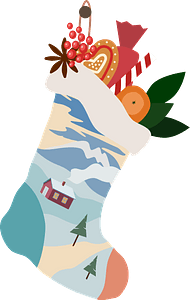 Christmas stocking immagine clipart