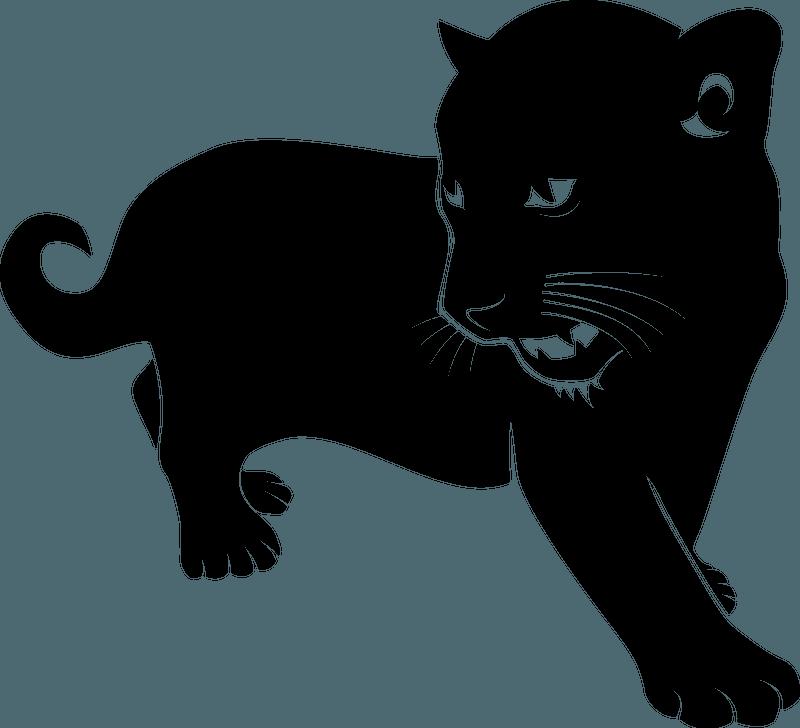 Black wild cat 클립 아트
