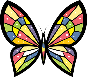 Butterfly mosaic clipart