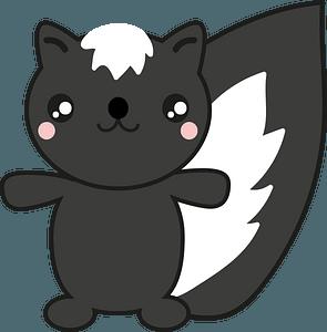 Cute skunk clipart