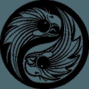 Eagles yin-yang clipart