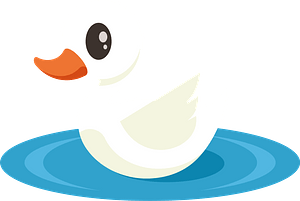 Little swan clipart