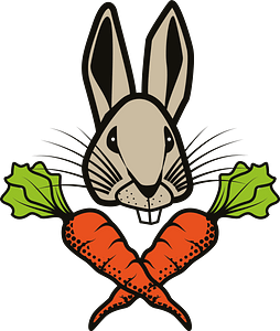 Rabbit with carrots clipart