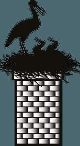 Stork nest clipart