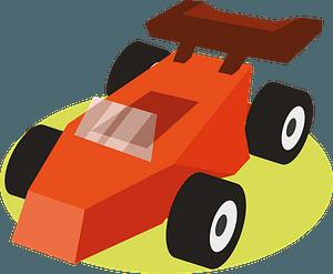 Carting racing car clipart