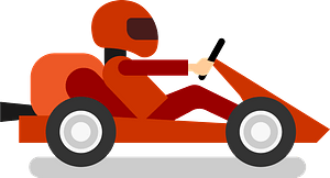 Karting vehicle clipart