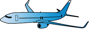Airplane clipart