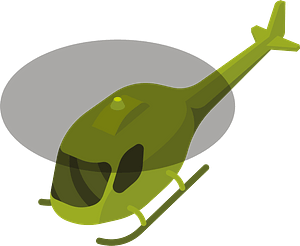 Helicopter in air clipart