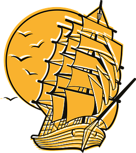 Old ship clipart
