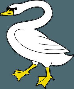 Mute swan clipart