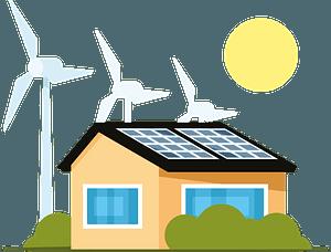 Eco house clipart