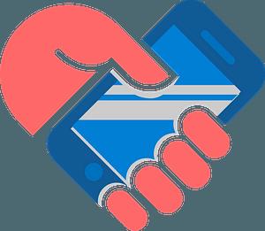 Smartphone hand clipart