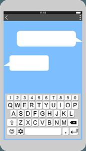 Smartphone messaging clipart