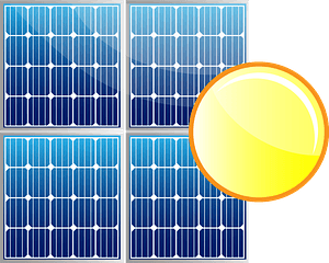 Solar panels clipart