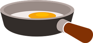 Egg in a pan clipart