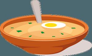 Egg soup clipart