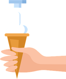 Ice cream hand clipart