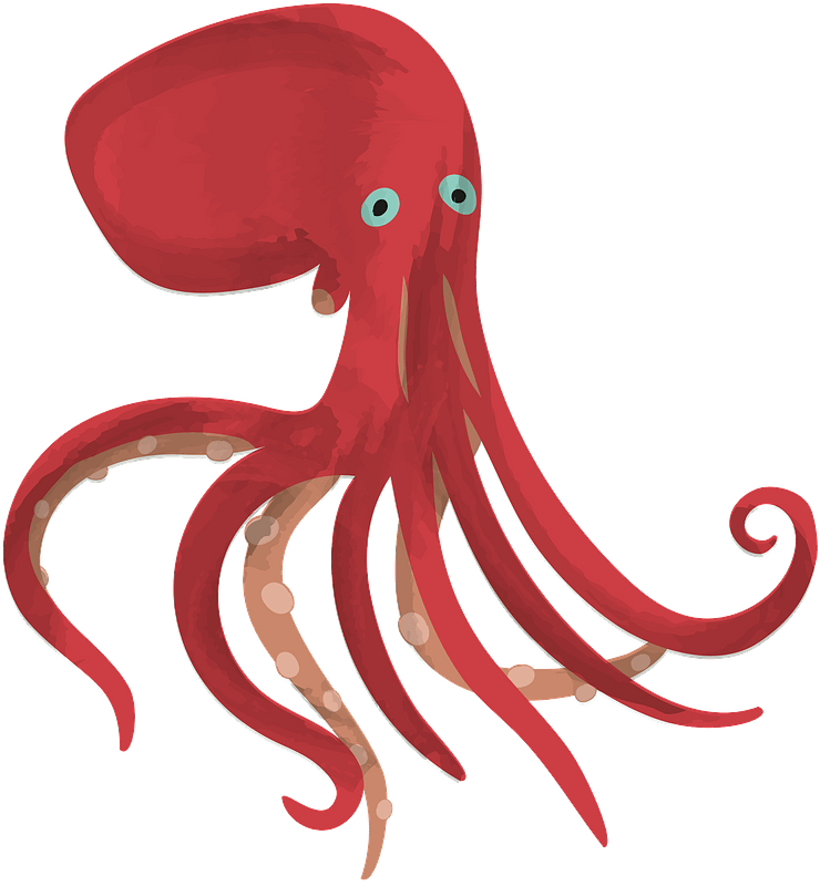 Silly Blue Octopus Vector Illustration Art Royalty Free Cliparts, Vectors,  And Stock Illustration. Image 12415144.