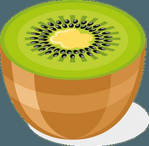 Kiwi slice clipart