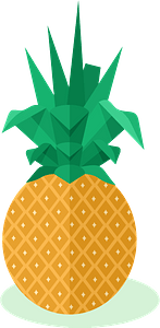 Pineapple fruit clipart