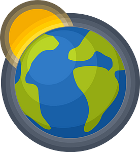Planet earth sun clipart