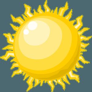 Star sun clipart
