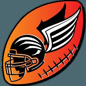 American football logo clipart