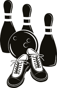 Bowling equipment clipart
