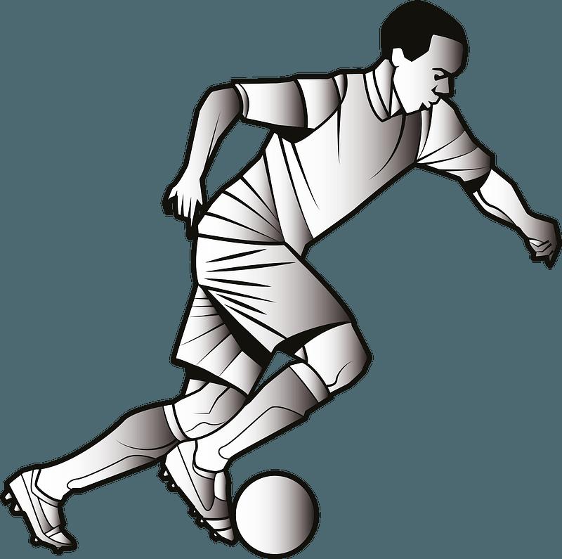 Football player clipart